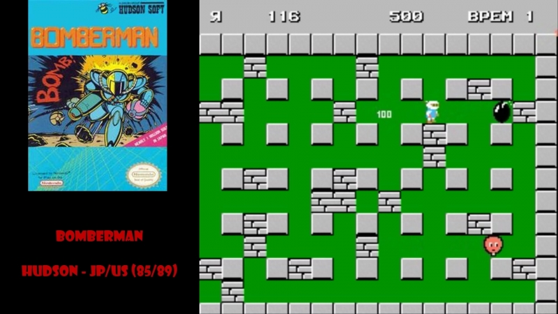All NES Games⁄Все Игры на Денди - 6. Bomberman - массовик убийца