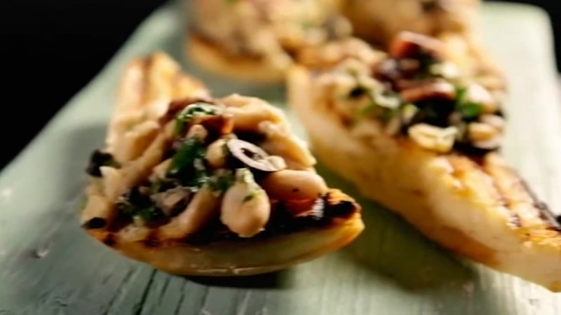 Cannellini Bean Crostini With Anchovy Olive