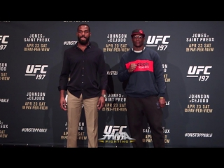 UFC 197: Jon Jones vs.Ovince Saint Preux Staredown