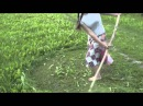 Scything with a single grip snath