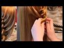 Пучок из косы-жгута (спиральной косы)