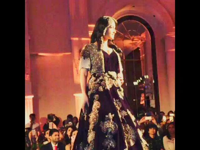 """Rebecca Memsaab✅ on Instagram """"Video AishwaryaRaiBachchan in couture wear by @manishmalhotra05 for @manishmalhotracollection @vogueindia at aicw2015"""""""