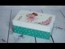 Decoupage tutorial - shoe box - DIY By Catherine