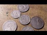 Чистка никелевых и бронзовых монет СССР уксусом, солью и ластиком