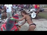 Мото приколы с девушки на мотоциклах.✌