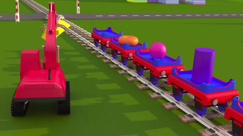 Учим объёмные геометрические фигуры с паровозиком Чух-Чухом - часть 1 Развивающий мультик для детей » Freewka.com - Смотреть онлайн в хорощем качестве