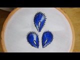 Hand Embroidery Peacock Feathers (Chemanthy Stitch variation)