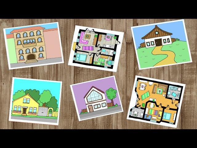 Deutsch lernen: Haus, Wohnung und Zimmer / apprendre l'allemand: les pièces de la maison