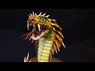 Naga-Paper Mache Dragon Snake!