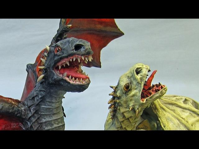 Daenerys' Paper Mache Dragons