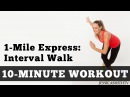 1 Mile Express Interval Walk - Low Impact Cardio You Can Do At Home In A Small Space!
