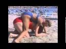 Female Wrestling on the Beach   Barbara VS Kriszta