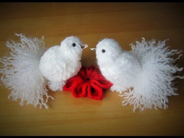 DIY pigeon Taube aus Garn zusammenbinden schnell und einfach