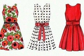 Срисовки для начинающих платья