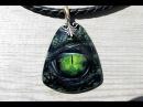 Рисуем глаз дракона на камне (Dragon eye, the process of painting )