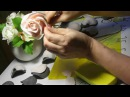 Роза Холодный фарфор Mастер Класс от Риты Часть2 Master class on the modeling of roses