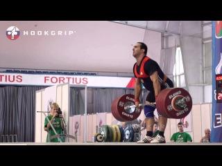 Давид Беджанян (в/к до 105) - Рекордный подход на 242 кг в толчке (ЧР 2015)