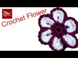 How to make a Cheerful #Crochet Flower Tutorial -  Free Online YouTube Class
