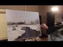 зимний пейзаж Картина Масло Холст Художник Игорь Сахаров