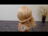 Причёска на средние, длинные волосы. Причёски своими руками  на каждый день ЛЕГКО и БЫСТРО