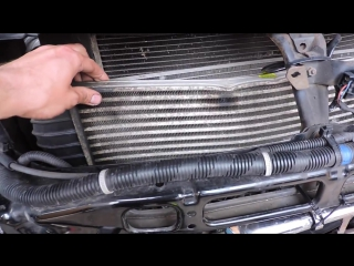 Как снять радиатор интеркулера на Кайроне. Removing the radiator intercooler SsangYong Kyron