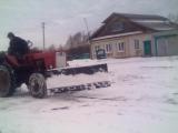 Чистка снега трактор т25