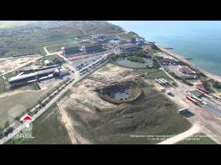 Аэросъемка грязевого вулкана Тиздар (Азовское море)