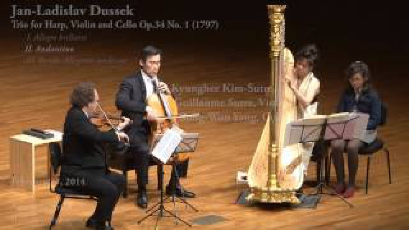 JL Dussek, Trio for Harp, Violin and Cello - Duo Sutre-Kim with Sung-Won Yang