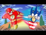 Who is Faster? Sonic the Hedgehog VS The Flash - Animation