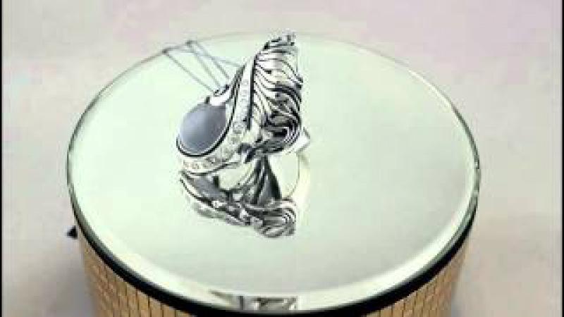 Серебряное кольцо 925 проба. Женское кольцо с вставкой улексит. 1261
