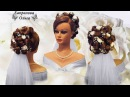 Свадебная прическа с цветами wedding hairstyle with flowers hairstyle for bride gaya rambut
