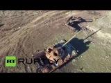Украина: Дрон захватывает разрушение