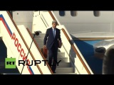 Russia Kerry lands in Moscow ahead of talks with Putin