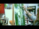 Acrylmalen: Malen lernen, Anleitung zum Bambus/ Acrylic painting Tutorial Demo, bamboo painting