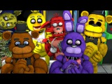 Animatronics Reaction to FNAF WORLD Teaser Trailer | FNAF SFM