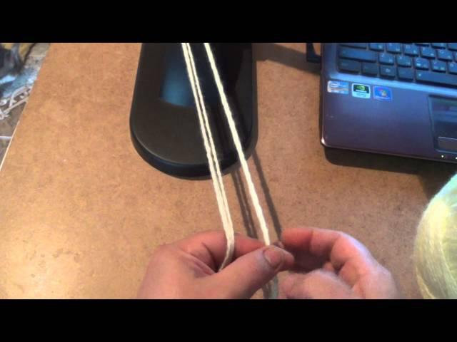 Как сделать декоративный крученный шнур из ниток?