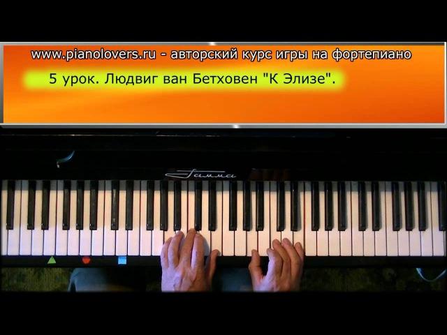 Урок 5. Курс фортепиано. Людвиг ван Бетховен К Элизе.
