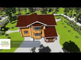 07 -107 проект двухэтажного дома из бруса с погребом и эркером.