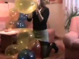sexy looner girl paying with balloons 28
