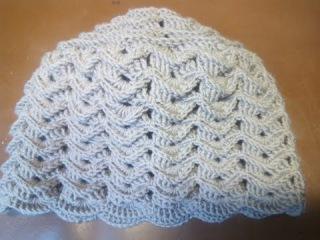 Вязание женской шапки с вогнутыми и простыми столбиками крючком часть 5 из 15