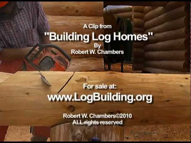 Cut Carve Brush Notches -- From my DVD series Building Log Homes