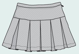 Лекала юбок в складку