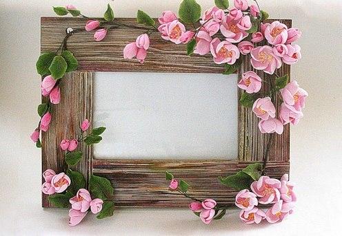Рамки с цветами из бумаги