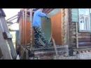 Каркасная пристройка к деревянному дому День 30 Утепляем цоколь Сносим старый чулан Ёжик