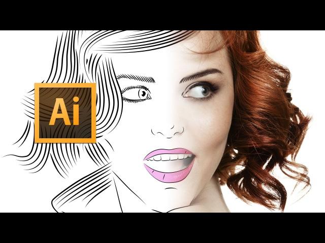 Adobe Illustrator CC - Line Art Tutorial - Tips, Tricks Shortcuts