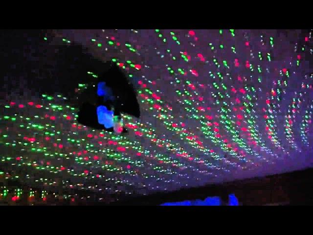 Мини- лазерный проектор для домашних дискотек
