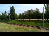 Тепловоз 2ТЭ10УТ-0076 с поездом №65 Москва-Кишинёв на перегоне: Новосавицкая-Тирасполь