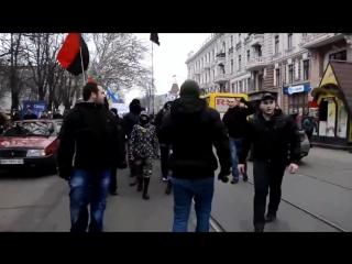 Правый сектор, слава нации смерть врагам, москалей на ножи. 23 февраль 2014