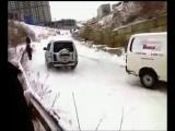 Смелый Паджеро _ Brave Pajero (Владивосток, гололёд) [полная версия, без цензуры]