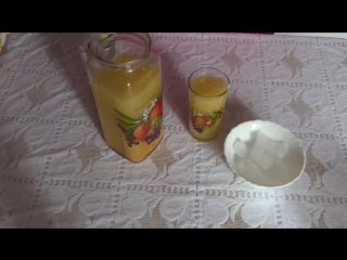 Лимонад имбирно-цитрусовый.